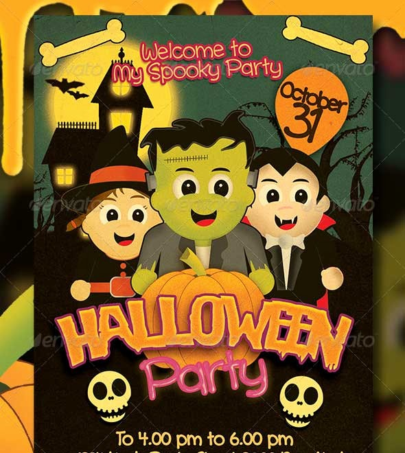Free Halloween Party Flyer Templates Elegant 45 Best Halloween Psd Party Flyer Templates 2016