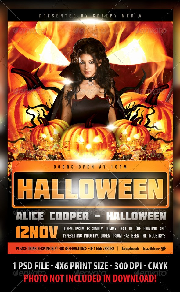 Free Halloween Party Flyer Templates Elegant Halloween Flyer by Fadeink