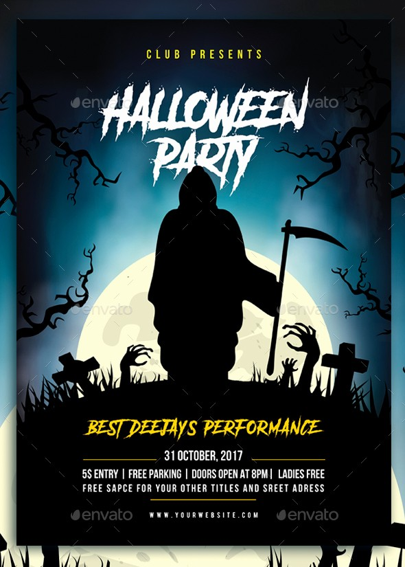 Free Halloween Party Flyer Templates Elegant Halloween Party Flyer by Azad Sultanov