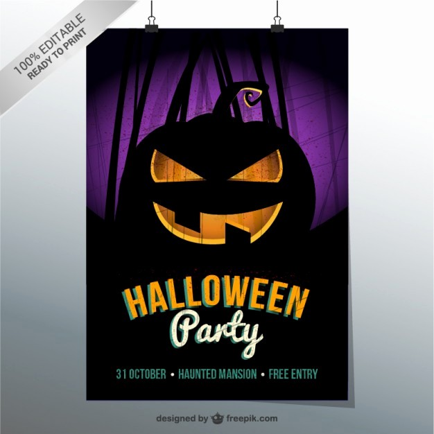 Free Halloween Party Flyer Templates Elegant Halloween Party Flyer Template Vector