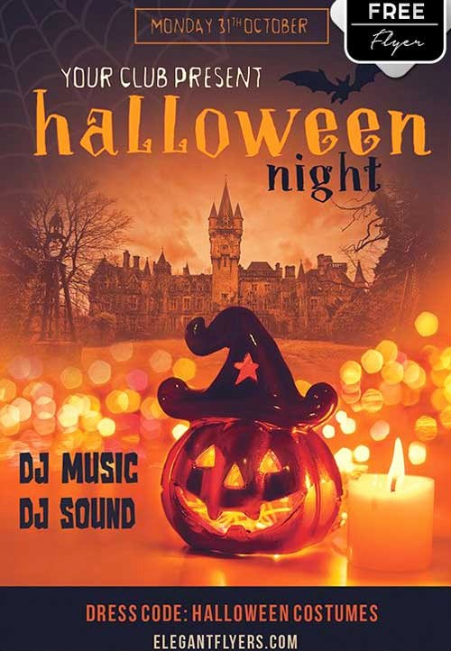 Free Halloween Party Flyer Templates Fresh Download the Halloween Night Party Free Flyer Template for