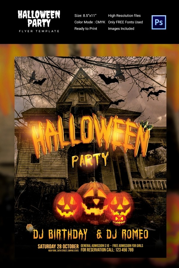 Free Halloween Party Flyer Templates Inspirational 68 Halloween Templates Editable Psd Ai Eps format