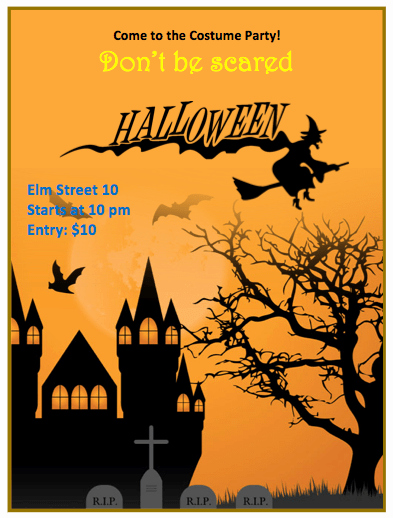Free Halloween Party Flyer Templates Inspirational Halloween Flyer Template orange theme Free Flyer Templates