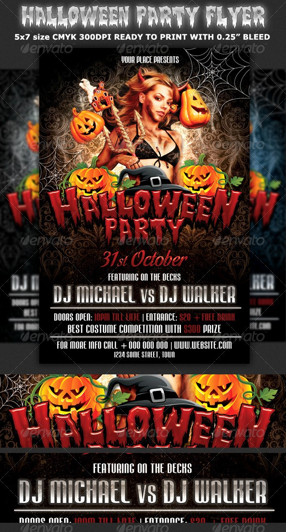 Free Halloween Party Flyer Templates Inspirational Halloween Party Flyer Template by Hotpin