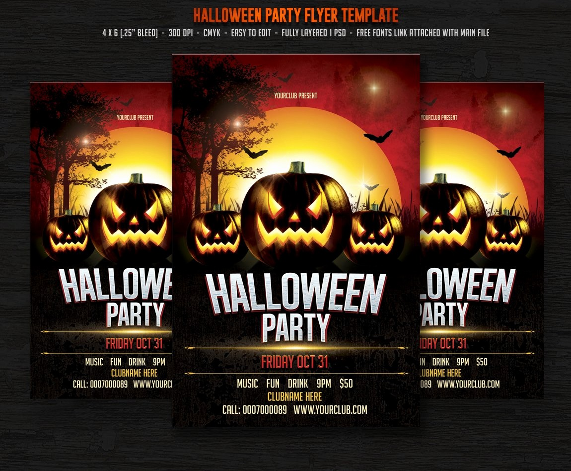 Free Halloween Party Flyer Templates Inspirational Halloween Party Flyer Templates Creative Market