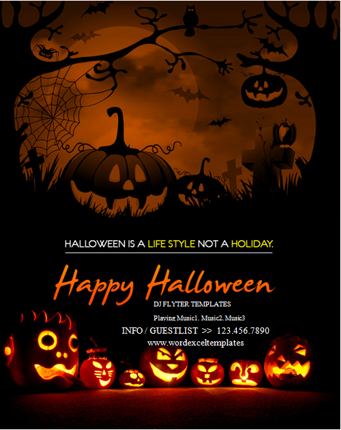 Free Halloween Party Flyer Templates Inspirational Ms Word Halloween Party Flyer Templates