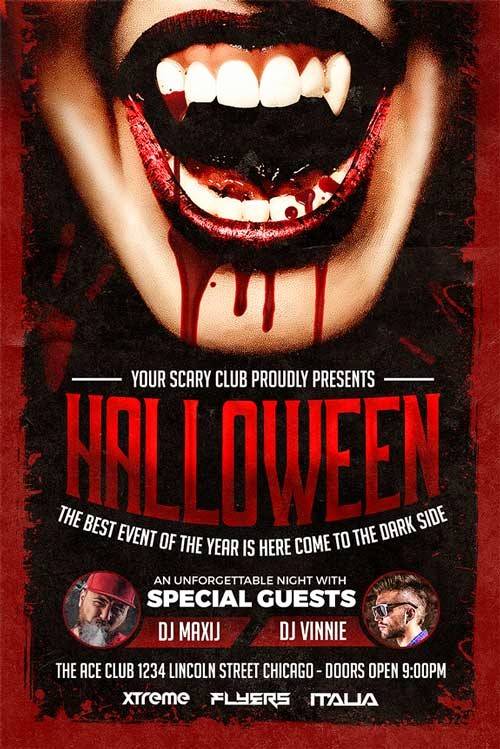 Free Halloween Party Flyer Templates Lovely Halloween Party Flyer Template Download Xtremeflyers