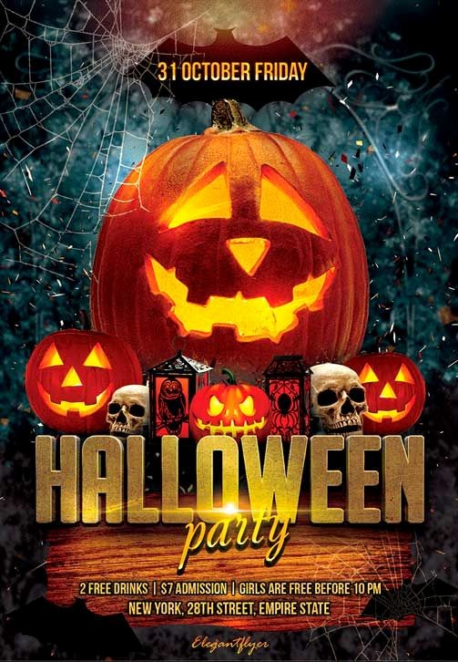Free Halloween Party Flyer Templates Lovely Pin by Flyersonar On Free Psd Flyer Templates