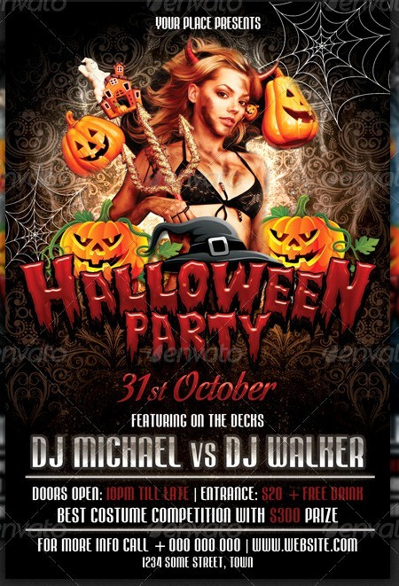 Free Halloween Party Flyer Templates Luxury 20 Halloween Flyer Templates for Halloween Party events