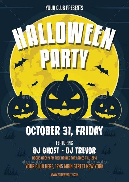 Free Halloween Party Flyer Templates Luxury 20 Halloween Party Flyer Templates 2017 Psd File