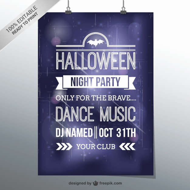 Free Halloween Party Flyer Templates Luxury Halloween Dance Party Flyer Template Vector