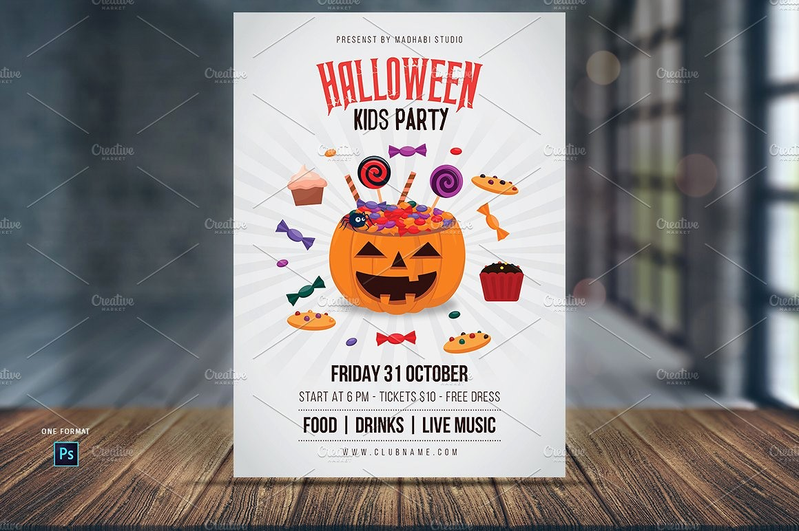 Free Halloween Party Flyer Templates Luxury Halloween Kids Party Flyer Template Flyer Templates