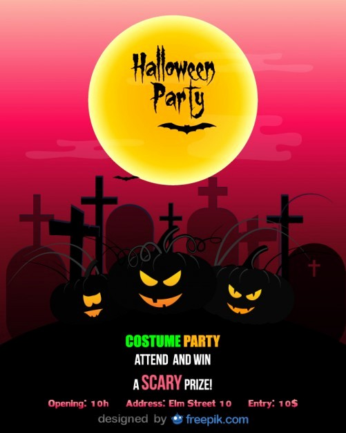 Free Halloween Party Flyer Templates Luxury Halloween Party Flyer Template Costume Party Vector