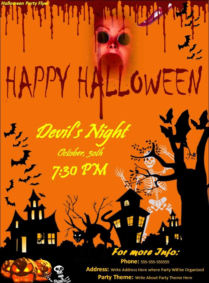 Free Halloween Party Flyer Templates New 7 Best Of Halloween Party Flyer Halloween Party