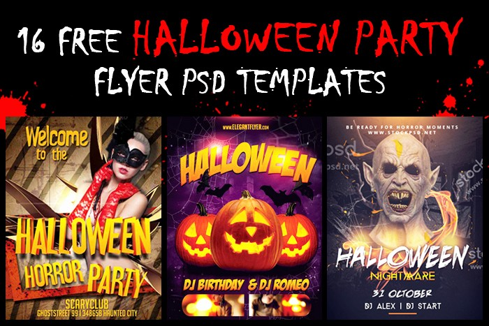 Free Halloween Party Flyer Templates Unique 16 Halloween Party Flyer Psd Templates Free Download