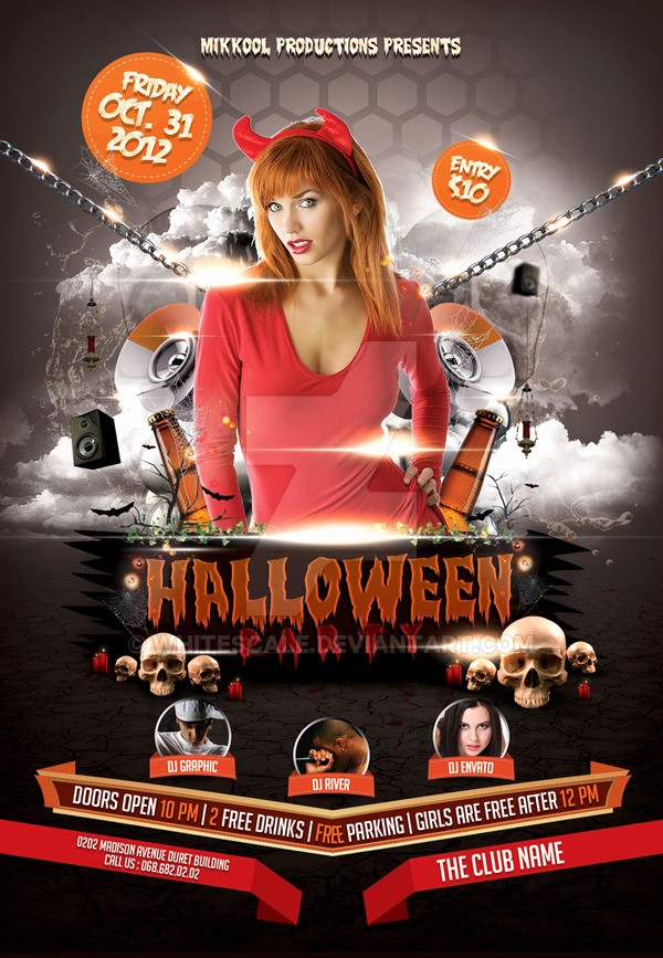 Free Halloween Party Flyer Templates Unique Halloween Party Flyer Template by Whitescale On Deviantart
