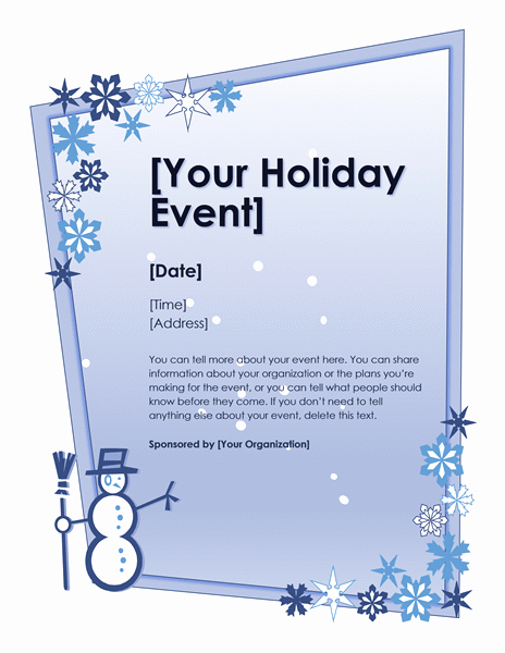 Free Holiday Flyer Templates Word Awesome Download Winter Holiday event Flyer Free Flyer Templates