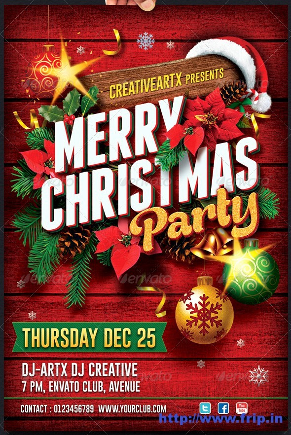 Free Holiday Flyer Templates Word Best Of 18 Free Christmas Flyer Design Templates