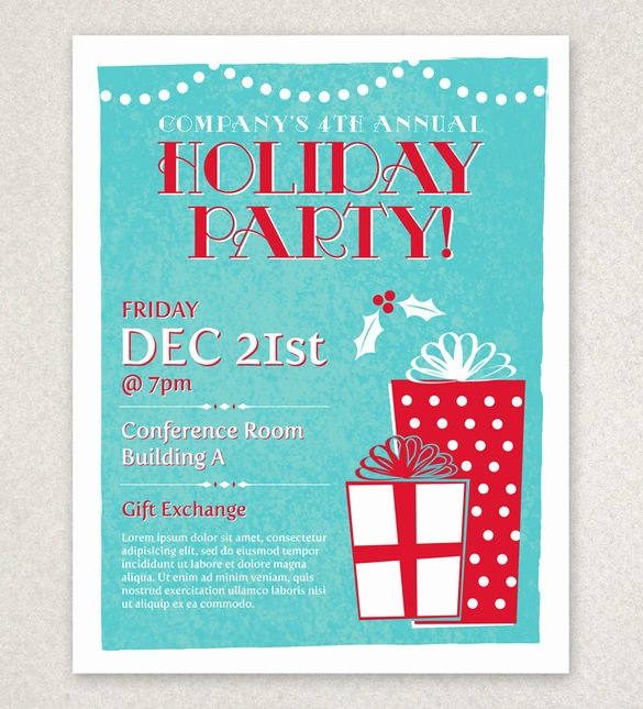 Free Holiday Flyer Templates Word Elegant 27 Holiday Party Flyer Templates Psd