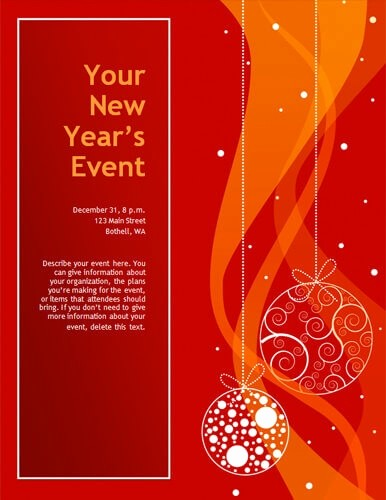 Free Holiday Flyer Templates Word Elegant Christmas Flyer Template Word Invitation Template