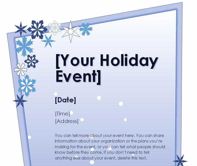 Free Holiday Flyer Templates Word Inspirational Holiday Flyer Template