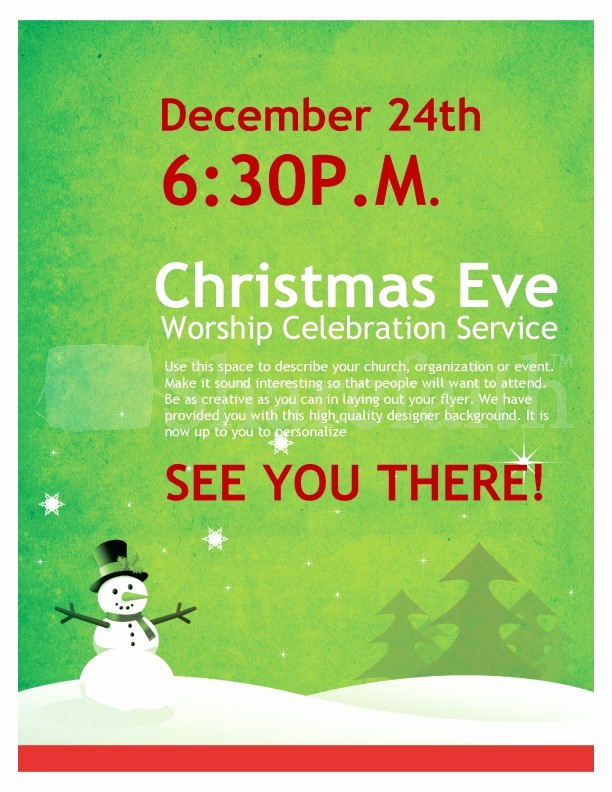 Free Holiday Flyer Templates Word Inspirational Snowman Christmas Church Flyer Template