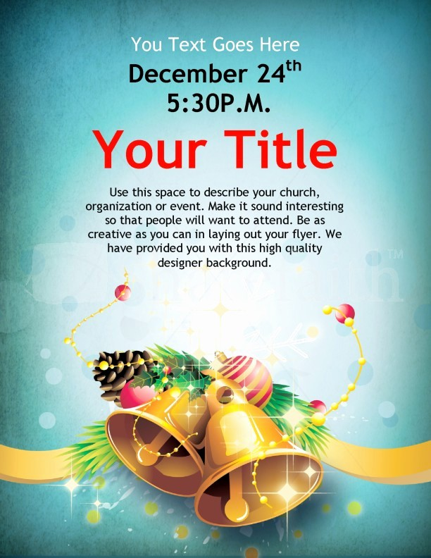 Free Holiday Flyer Templates Word Luxury Christmas Bells Flyer Template Template