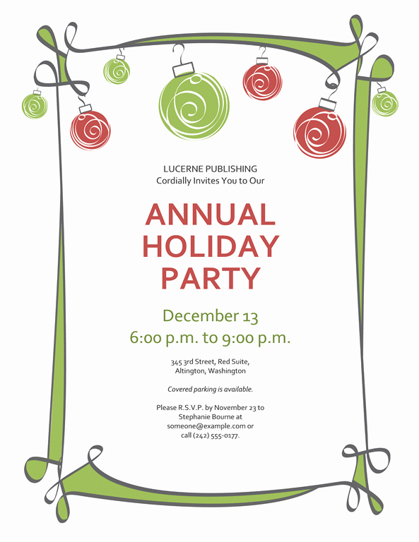 Free Holiday Flyer Templates Word Luxury Free Printable Christmas Invitations Template