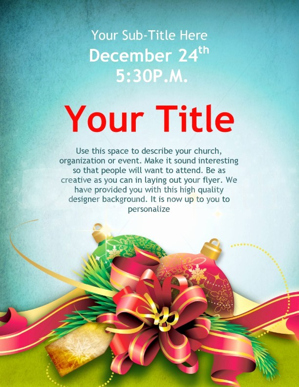 Free Holiday Flyer Templates Word New 7 Best Of Christmas Flyer Templates Microsoft