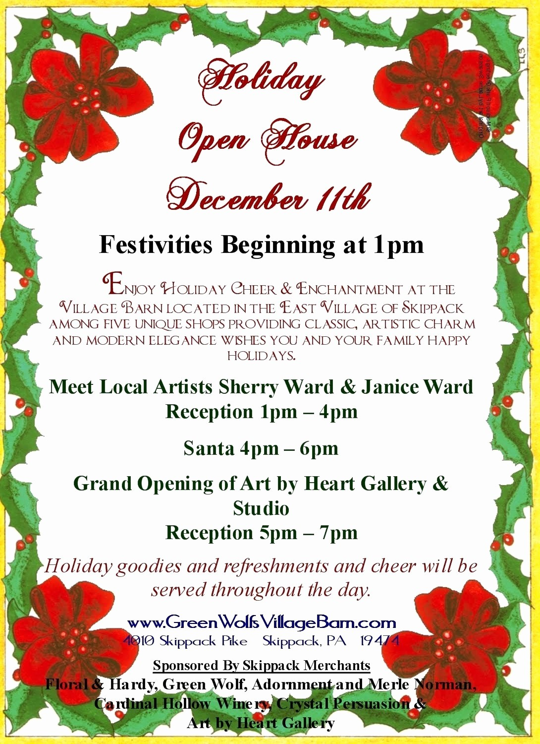 Free Holiday Flyer Templates Word New Christmas Open House Flyer Templ with Free Open House