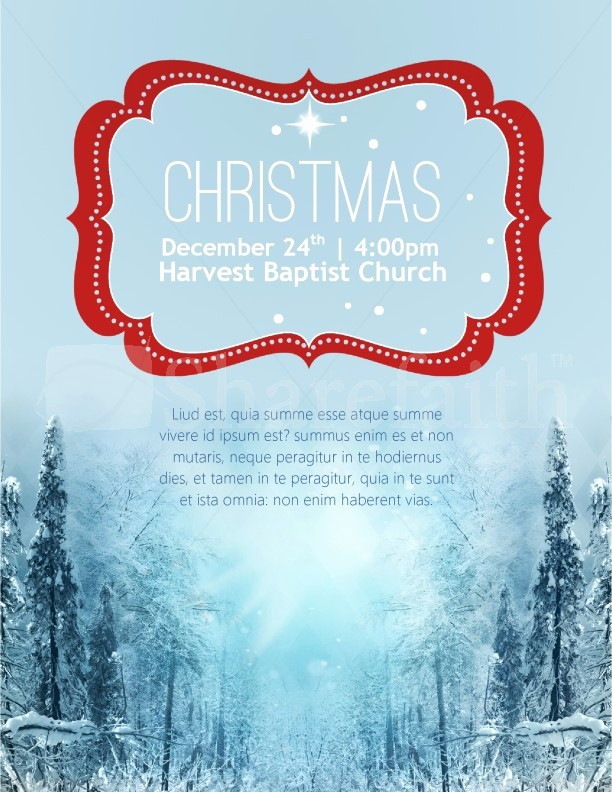 Free Holiday Flyer Templates Word Unique Winter Scene Christmas Flyer Template