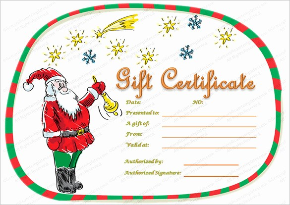 Free Holiday Gift Certificate Template Awesome 20 Christmas Gift Certificate Templates Word Pdf Psd