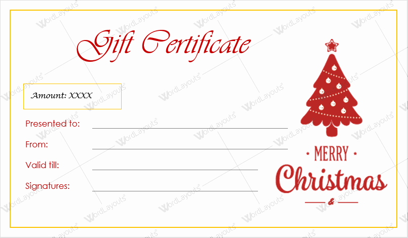 Free Holiday Gift Certificate Template Best Of 12 Beautiful Christmas Gift Certificate Templates for Word