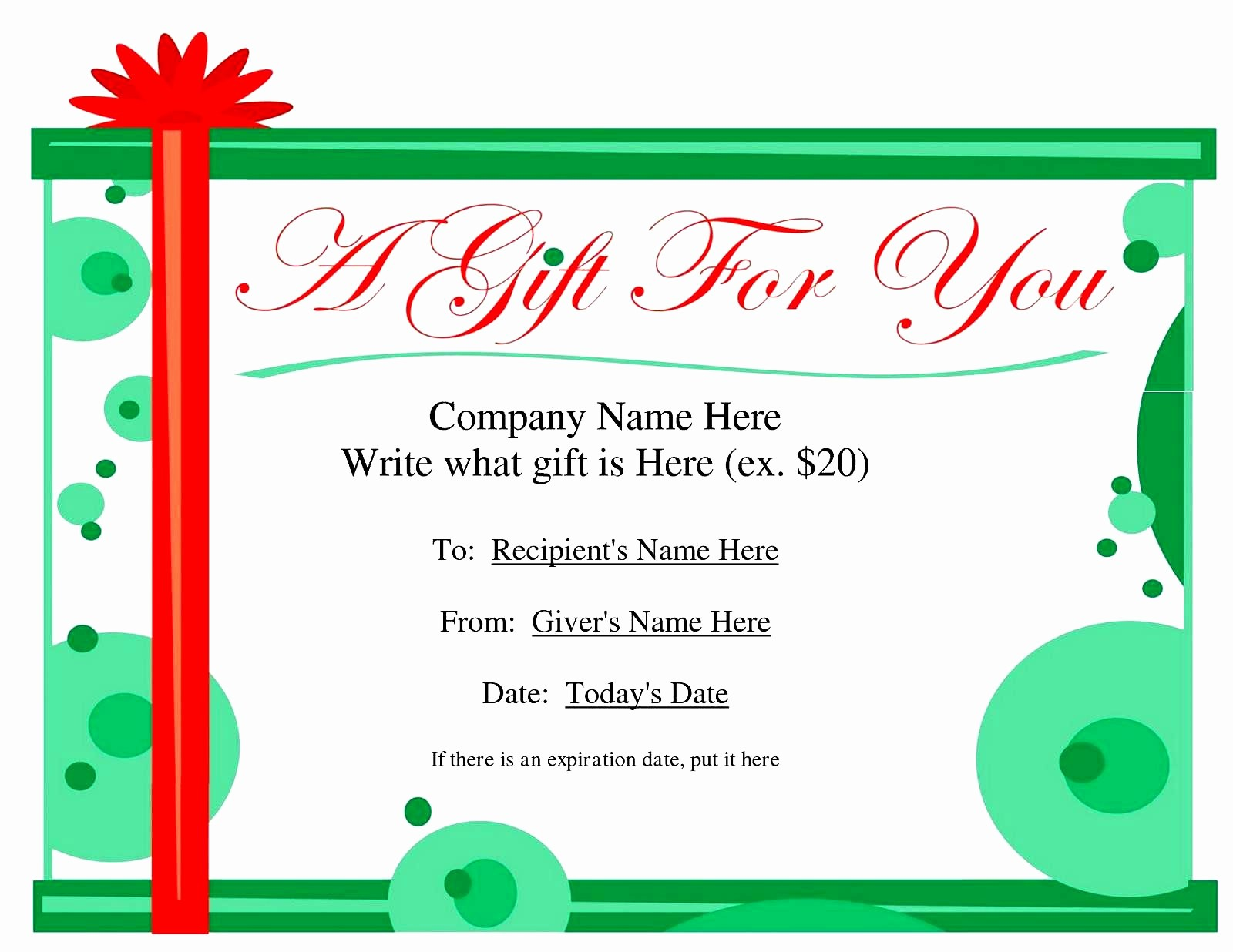 Free Holiday Gift Certificate Template Elegant Massage Gift Certificate Templates