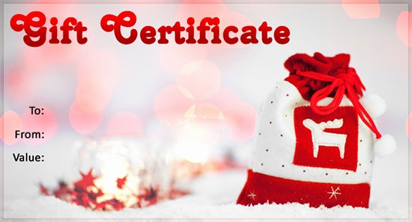Free Holiday Gift Certificate Template Fresh 20 Christmas Gift Certificate Templates Word Pdf Psd