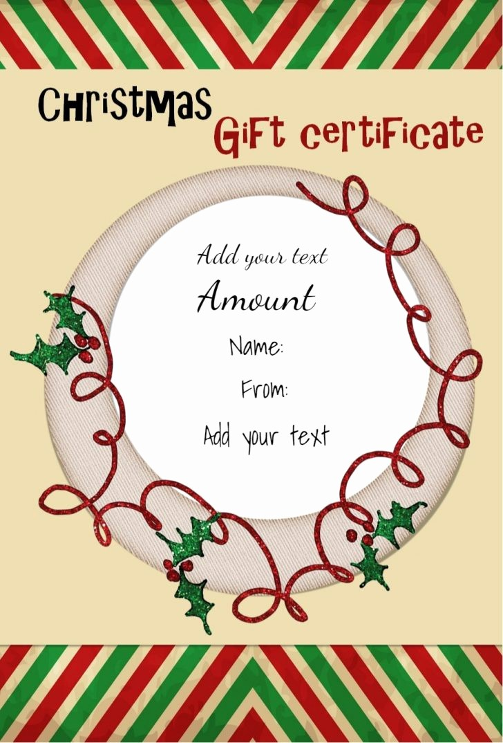 Free Holiday Gift Certificate Template Inspirational Free Gift Certificate Template Template Trakore Document