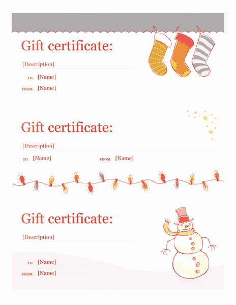 Free Holiday Gift Certificate Template Inspirational Holiday Gift Certificate Template Word Christmas Free