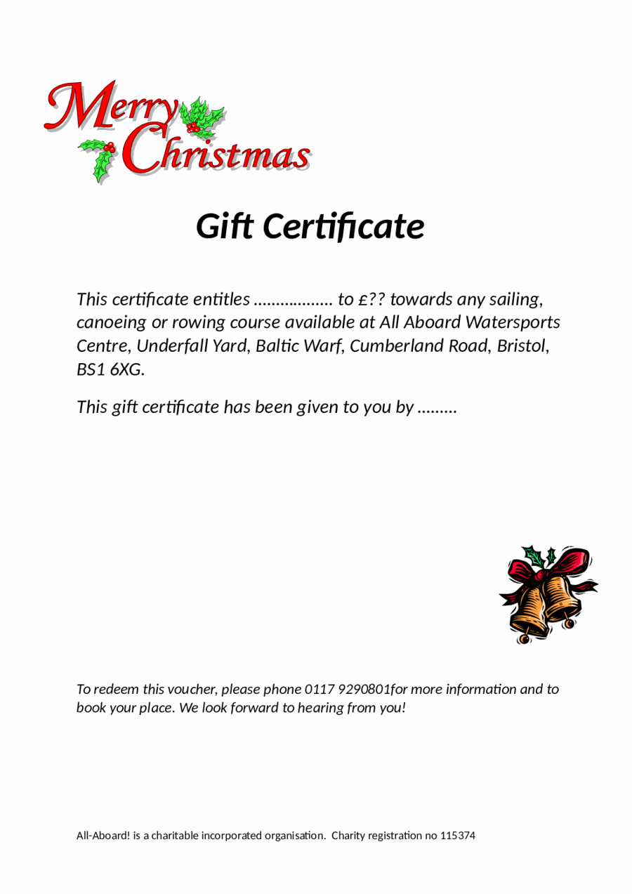 Free Holiday Gift Certificate Template Luxury 2019 Gift Certificate form Fillable Printable Pdf