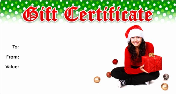 Free Holiday Gift Certificate Template New 20 Christmas Gift Certificate Templates Word Pdf Psd
