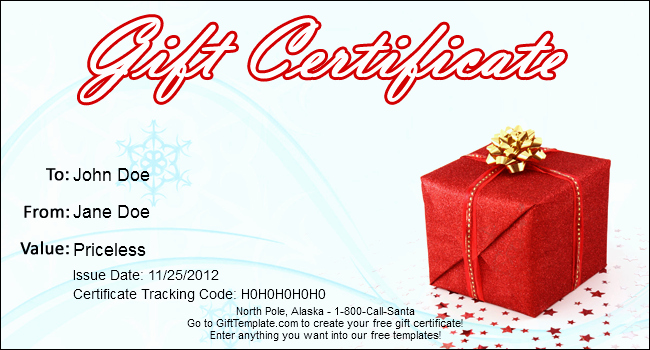 Free Holiday Gift Certificate Template New Gift Template Blog Free Gift Certificate Templates