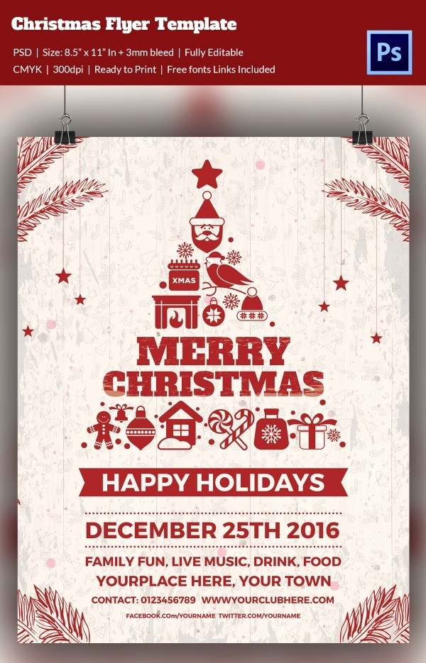 Free Holiday Templates for Word Awesome 60 Christmas Flyer Templates Free Psd Ai Illustrator