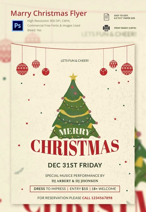 Free Holiday Templates for Word Best Of 60 Christmas Flyer Templates Free Psd Ai Illustrator