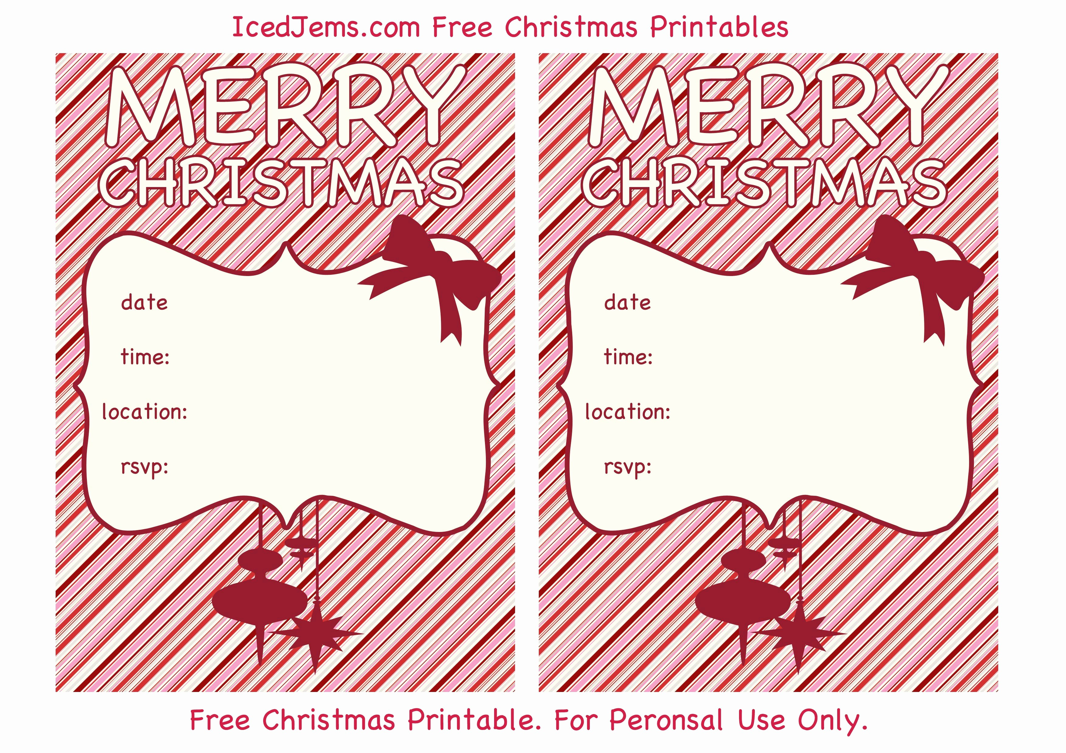 Free Holiday Templates for Word Lovely Free Christmas Party Invitations