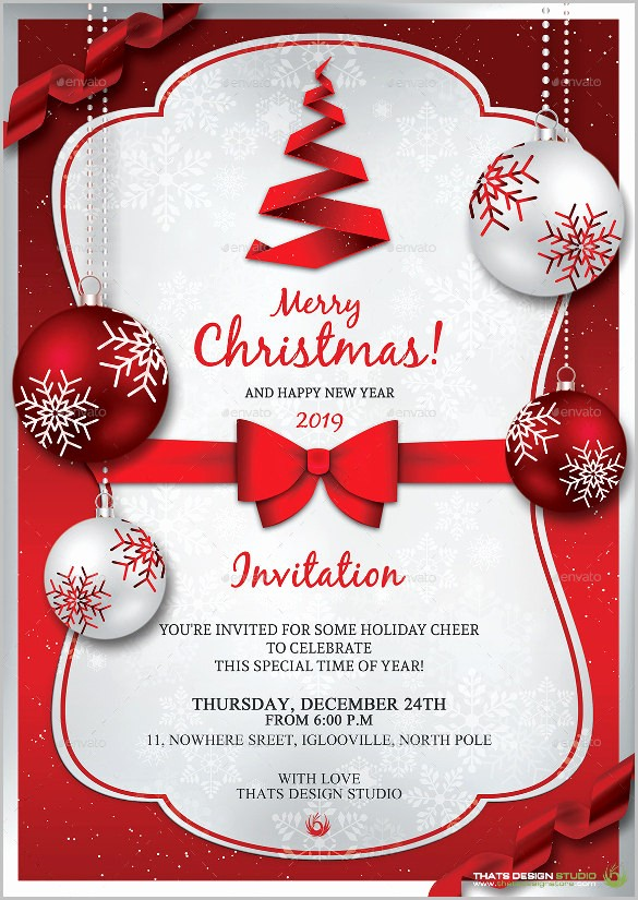 Free Holiday Templates for Word Luxury Christmas Invitation Template – 26 Free Psd Eps Vector