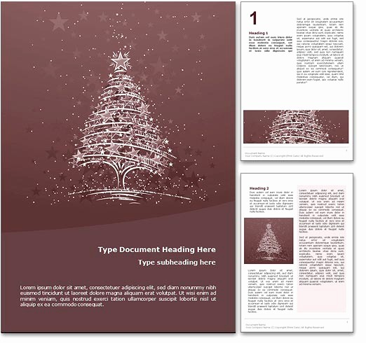 Free Holiday Templates for Word New Royalty Free Christmas Microsoft Word Template In Red