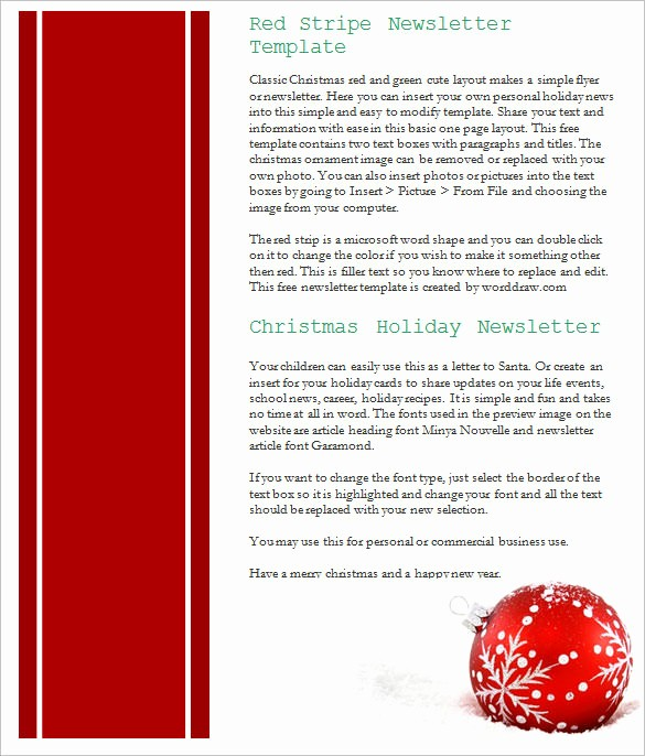 Free Holiday Templates for Word Unique 27 Christmas Newsletter Templates Free Psd Eps Ai