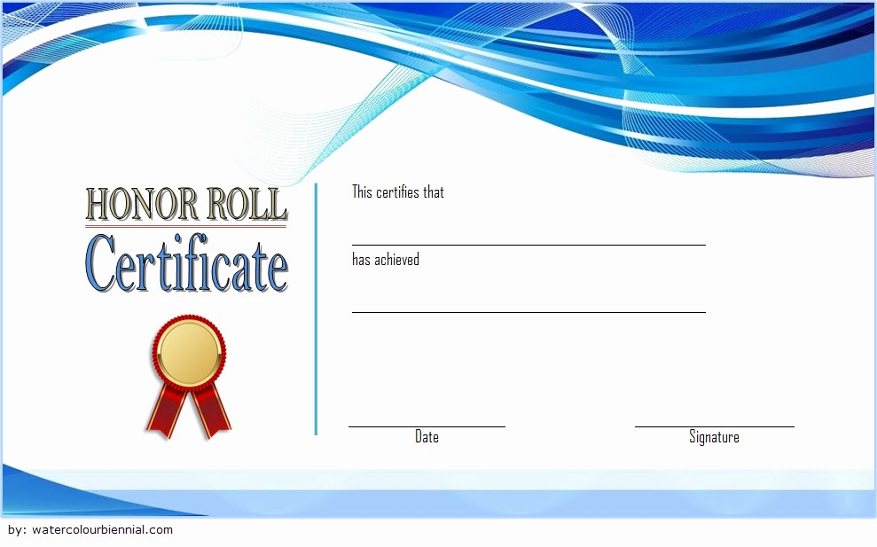Free Honor Roll Certificate Template Awesome Editable Honor Roll Certificate Templates 7 Best Ideas