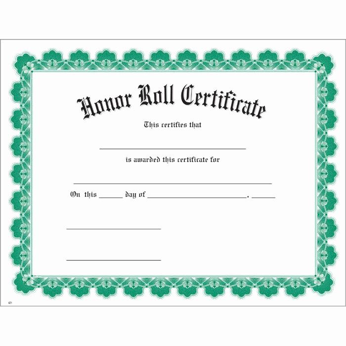 Free Honor Roll Certificate Template Beautiful 8 Best Of Honor Roll Certificates Printable Free