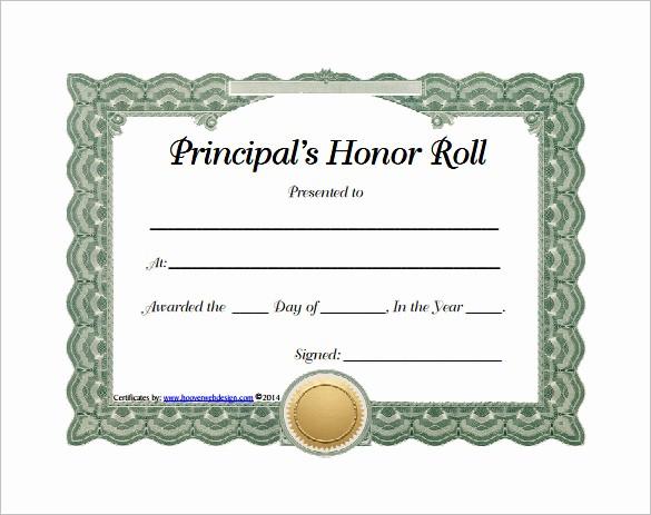 Free Honor Roll Certificate Template Beautiful 8 Printable Honor Roll Certificate Templates & Samples
