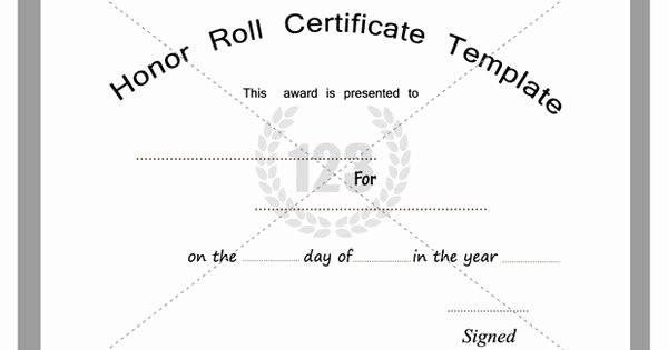 Free Honor Roll Certificate Template Best Of Free and Premium Honor Roll Certificate Templates